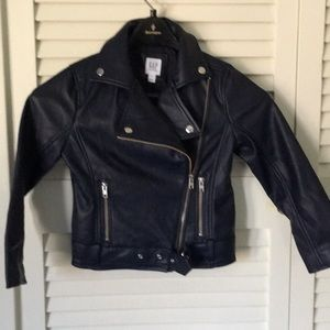 Gap Kids Faux Leather Motorcycle Jacket Sz S
